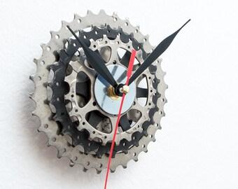 Bicycle Wall Clock - Unique Wall Clock - Bike Clock - Industrial Wall Clock - Unique Gift - Cyclist Gift - Boyfriend Gift - Husband Gift