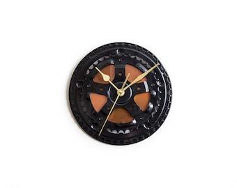 Industrial Wall Clock, Modern Bicycle Clock, Unique Gift, Boyfriend Gift, Husband GiftBike Wall Clock, Steampunk Wall Clock, Cyclist Gift,