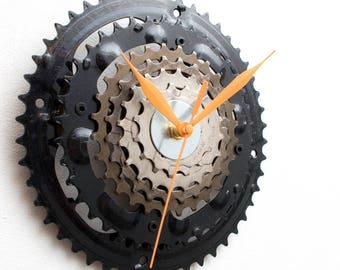 Contemporary Wall Clock, Industrial Decor, Decorative Clock, Modern Clock Steampunk Wall Clock, Bicycle Wall Clock,  Unique Wall Clock,