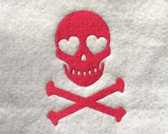 Love Skull and Bones DOWNLOAD DIGITAL Design 4x4