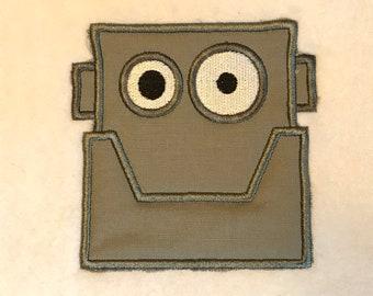 Robot Head Applique DOWNLOAD DIGITAL Design 4x4
