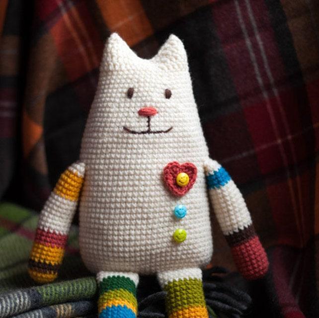 Häkeln Sie Katze Spielzeug-Muster häkeln häkeln Amigurimi | Etsy