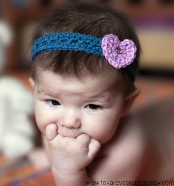 Bebé diadema ganchillo patrón venda del ganchillo del bebé | Etsy