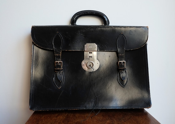 1950's Top Grain Cowhide Leather Briefcase made by