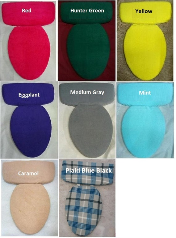 Blue Royal Fleece Fabric COVER Toilet Seat Lid or Tank Top or Toilet Seat Lid and Tank Top