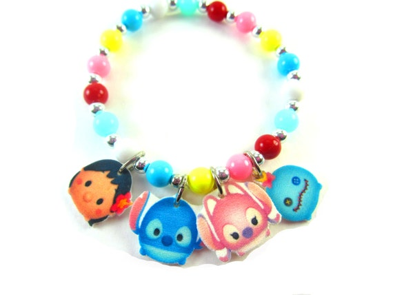 Lilo and Stitch Tsum Tsum Charm Bracelet Lilo and Stitch | Etsy