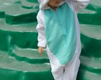 Unicorn Costume Onesie Kigurumi Fleece Ages Babies Kids 6 Months to 4 Years