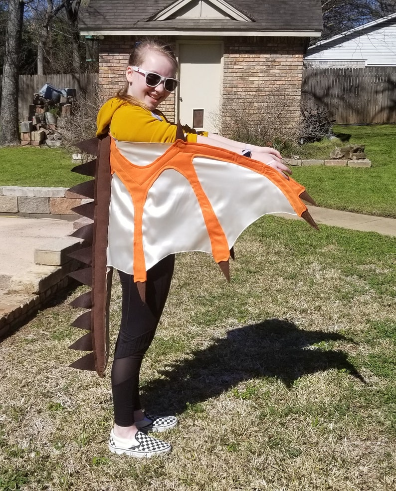 Dragon Wings Of Fire Inspired Costume MudWing Clay Kids Age 4 to Adult