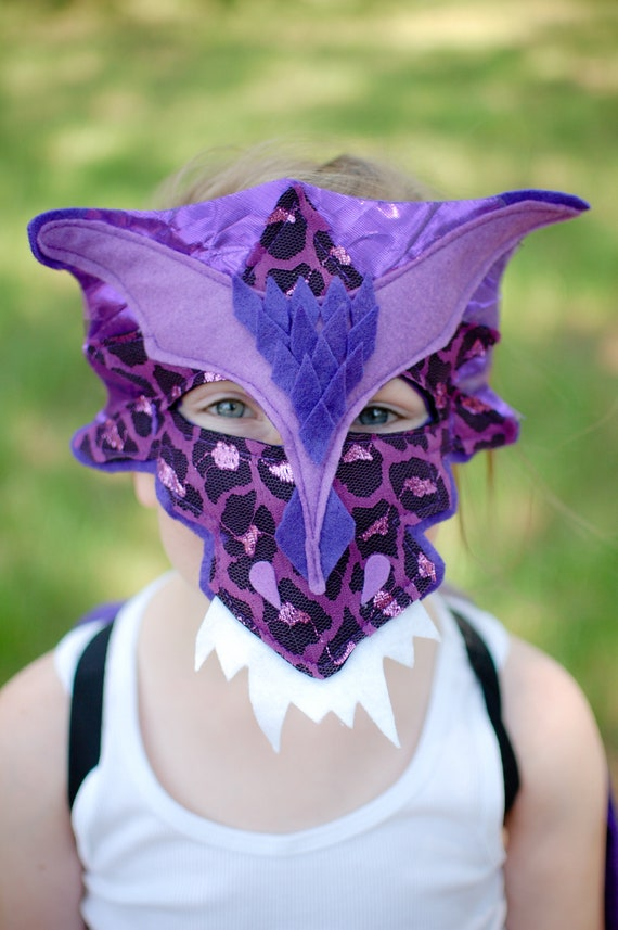 Dragon Mask Awesome Red Scale Kids Ages 3 to Adult