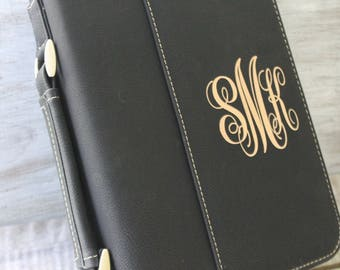 Select Your Design-Bible Case Cover Black Laser Engraved Monogram Bible Case Cover with Zipper Closure