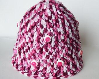 ähnliche Artikel Wie Vegane Rosa Mütze Häkeln Winter Damen Mütze