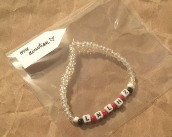 a2d5de2c4d One Direction handmade beaded bracelet. Liam Niall Louis Harry Zayn