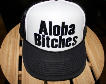 eeb1f2c6cde56 ALOHA Bitches! Perfect hat for you beach lovers out there. Perfect for  vacations as well!