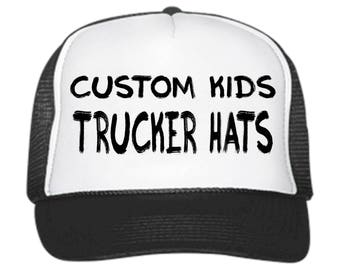 97ddbe40800 Custom KIDS Trucker Hats   Customizable    snapback    adjustable     Birthday Parties    Special Occasions