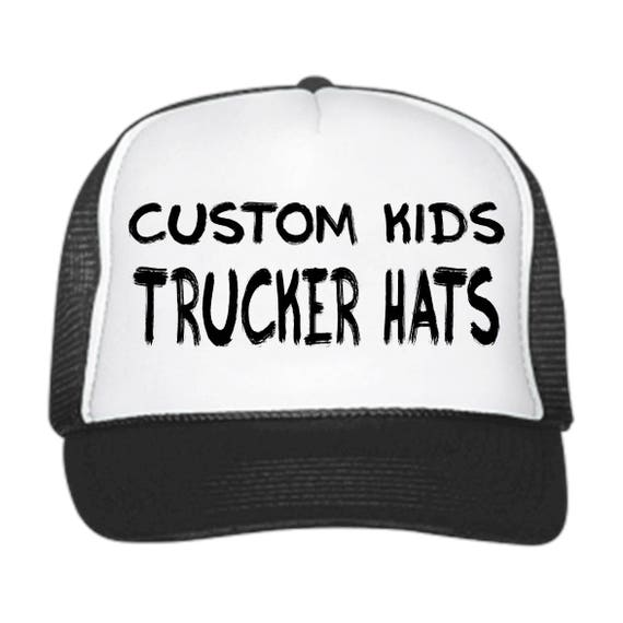 Custom KIDS Trucker Hats   Customizable    snapback    b3be87b8416