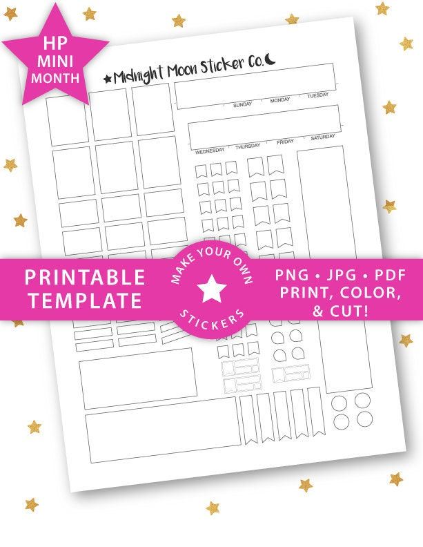 It's just an image of Accomplished Mini Happy Planner Template