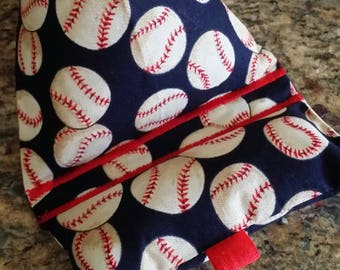 Gadget Bags-Cell Phone Stand-Cell Phone Pillows-Sports Collection (Blue n' White Baseball)