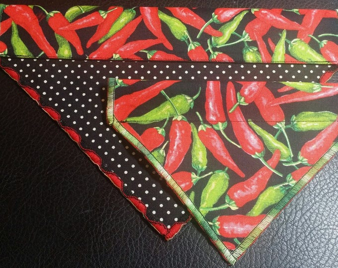 PET BANDANAS-Dog n' Cat-Hot Peppers n' Polka-Dot