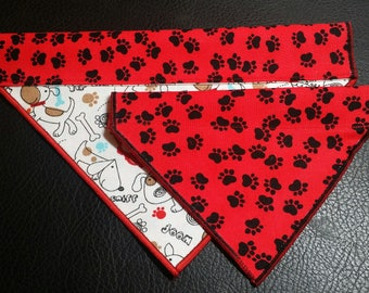 PET BANDANAS-Dog n' Cat-Paw Prints n Fire Hydrants