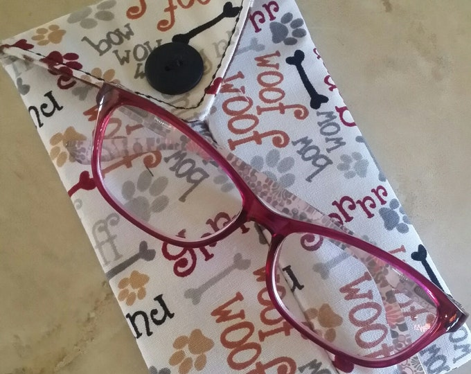 EYE GLASS CASES-Dog Talk (Phone & glasses not included)
