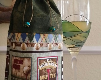 Wine Bag-Deluxe-Sports Collection (Golf n' Green)