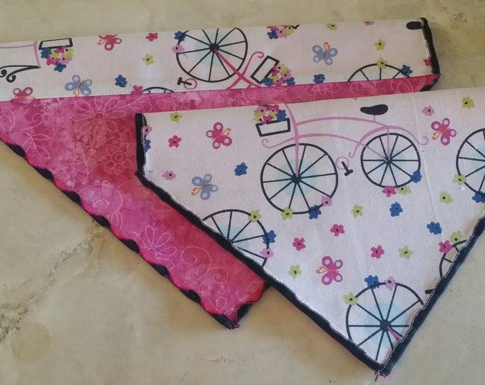 PET BANDANAS-Dog n' Cat-Springtime Pink Bicycle