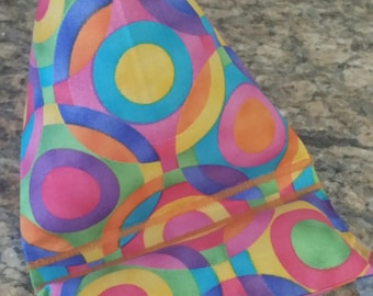 Gadget Bags-Cell Phone Stand-Cell Phone Pillows-Artsy Collection (Artsy Rainbow Circles)