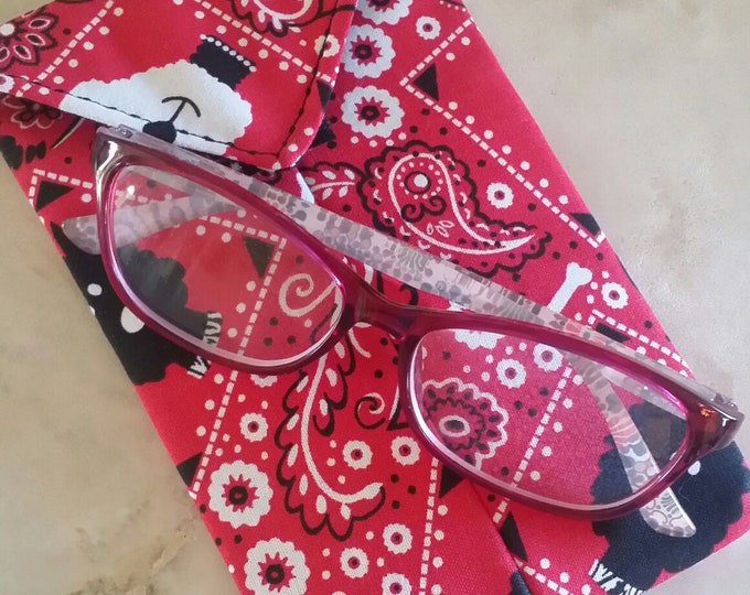 EYE GLASS CASES-Red White n Black Pooches (Phone & glasses not included)