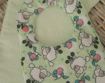 Baby Bib-Baby Lamb Bib & Burp Pad Set!