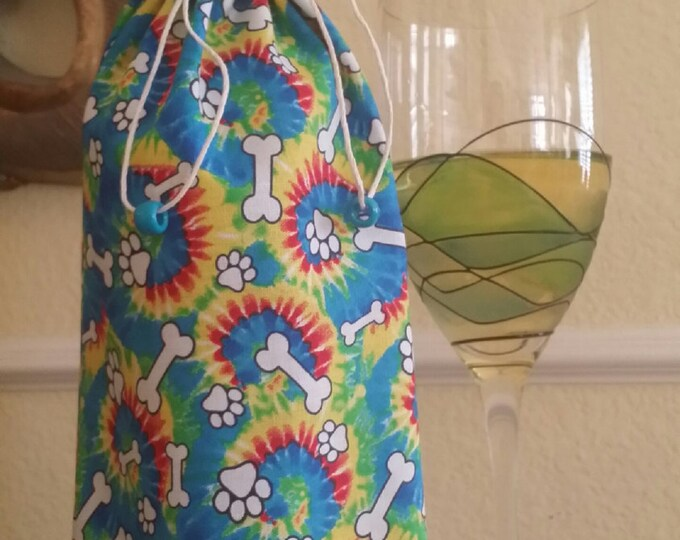 Wine Bag-Gourmet-Pooch Collection (Tie Dyed)
