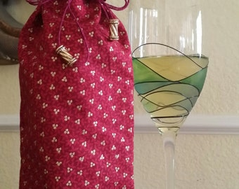 Wine Bag-Gourmet-Glitter Collection (Rouge n' Gold Berries)