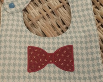 "Baby Bib ""Lil Man"" Red n' Gold Bow Tie!"