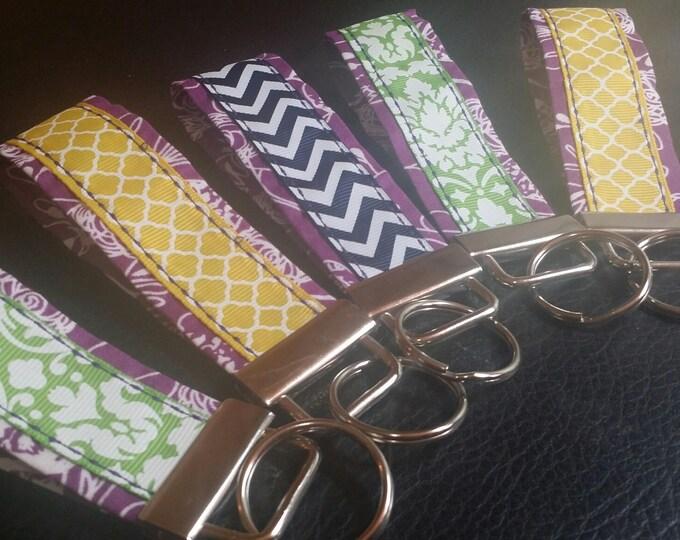 Key Chains-Key Rings-Key Fobs-Purple n' Assorted Ribbons