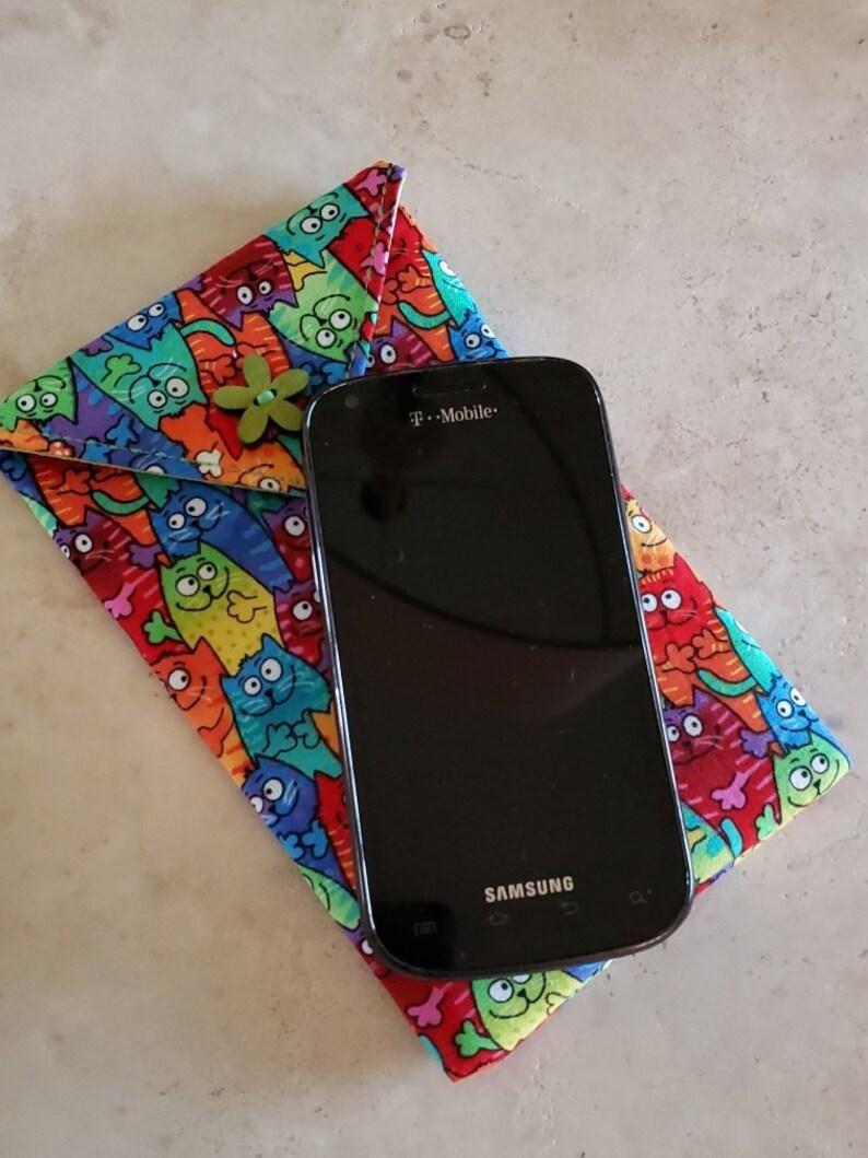 Cell Phone Case n' Eye Glass Case-Rainbow Kitties Phone & Olive Green