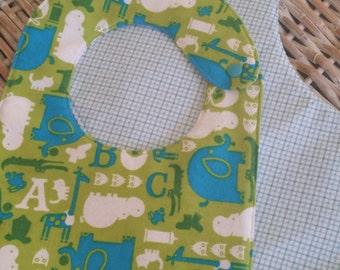 Baby Bib-Baby Elephant n' Rhino Bib & Burp Pad Set!