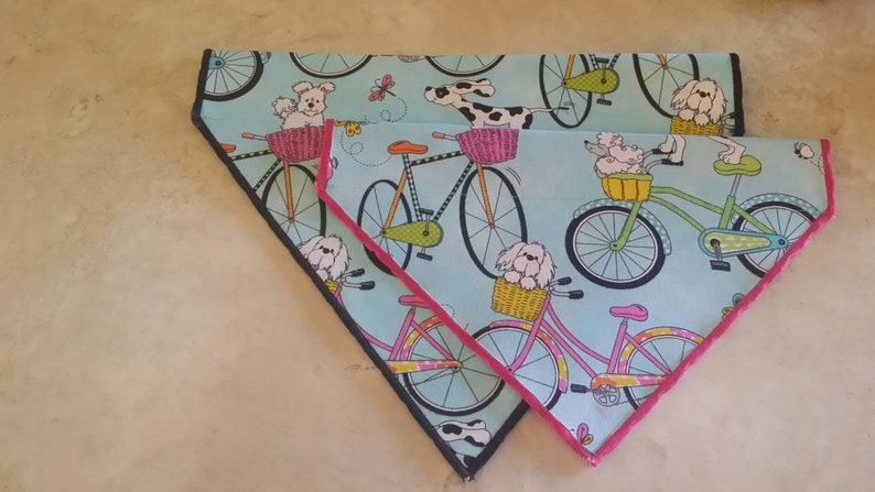 Pet Bandanas-Dog Bandanas n' Cat Bandanas-Dogs on Bicycles image 0