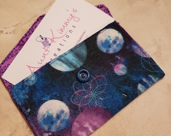 Business Card Holder-Purple n' Blue Orbit