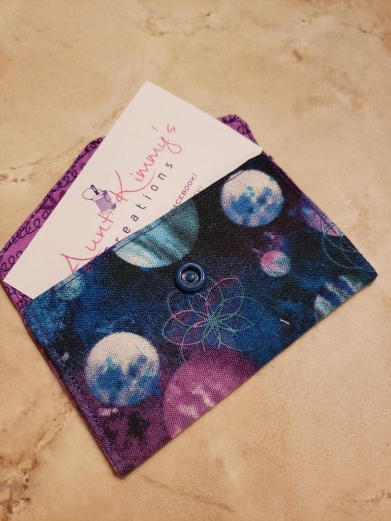 Business Card Holder-Purple n' Blue Orbit image 0