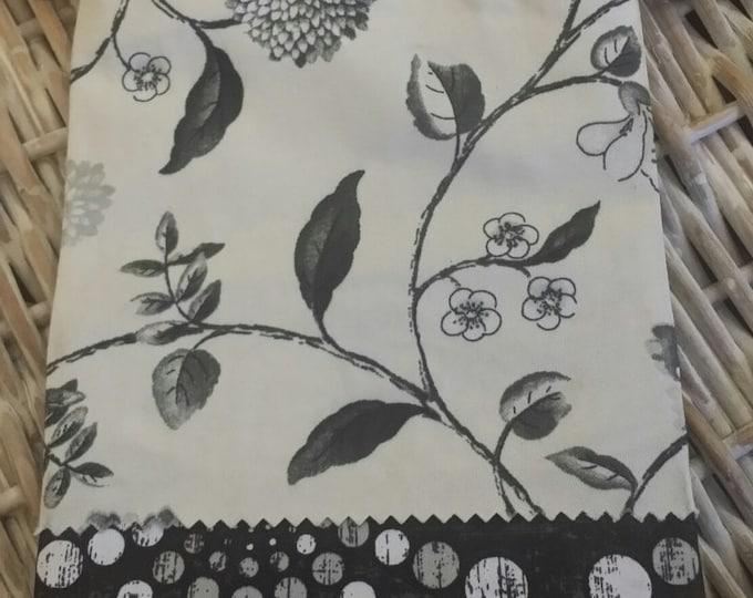 Sew Cute Bag-(Floral Cream Black n' Brown)
