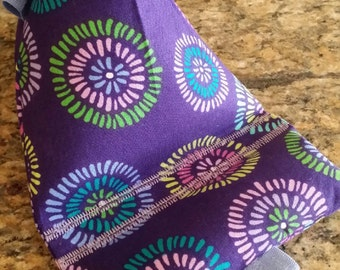 Gadget Bags-Cell Phone Stand-Cell Phone Pillows-Artsy Collection (Purple Star-Burst)
