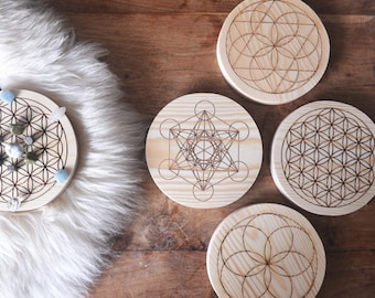 Unstained Crystal Grid, Crystal Grids, Healing Crystals