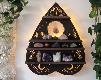 Planchette Crystal Shelf lamp, Planchette Wall Art, Planchette Lamp, Crystal Shelf, Crystal Display