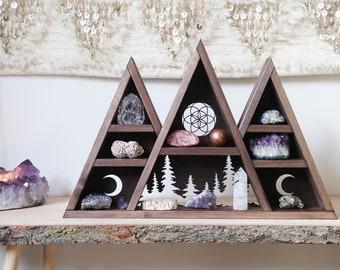 Mountain Crystal Shelf, Geometric Shelf, Triangle Shelf