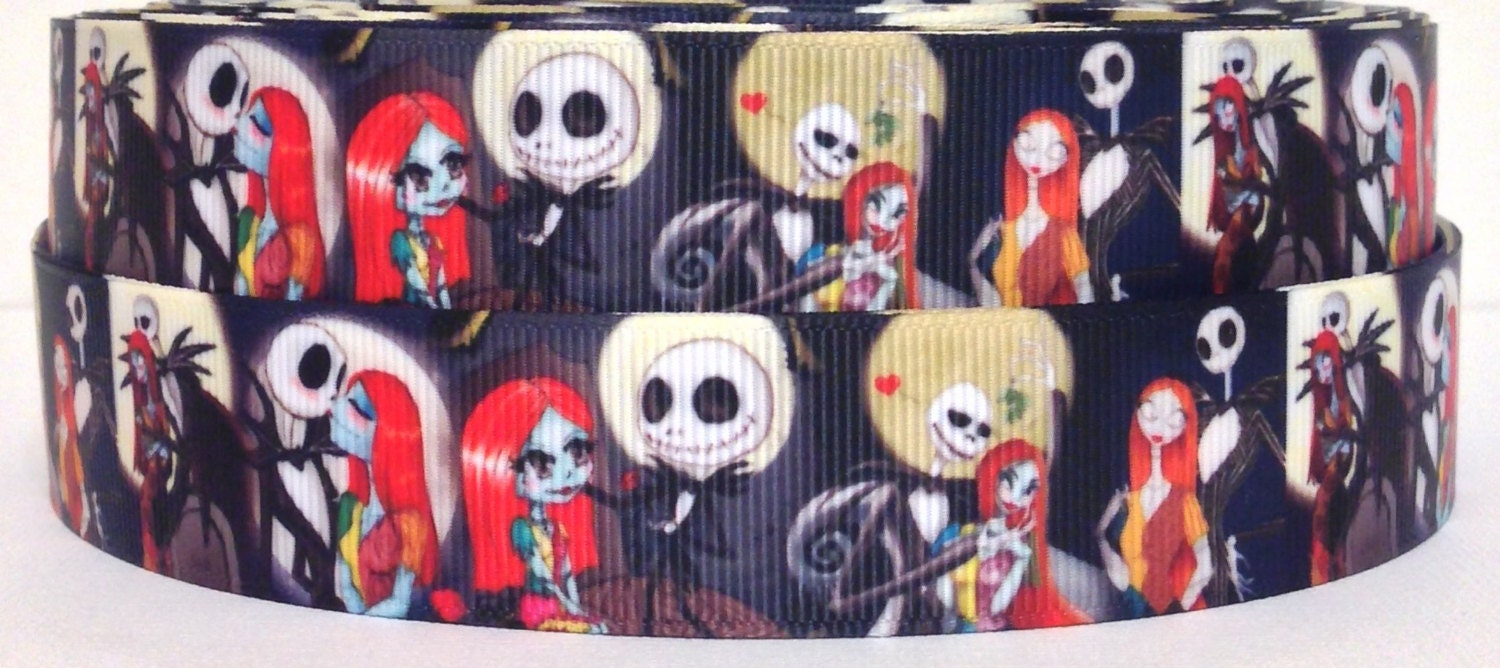 Nightmare Before Christmas 1 Grosgrain Ribbon 3 yards | Etsy