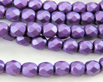 27mm Czech glass button wiridescent luster-Purple~Violet~Gold luster~1-116