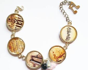 Dome music themed bracelet