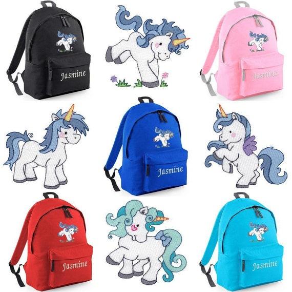 Personalizado bordado unicornio mochila/morral niñas regalo | Etsy