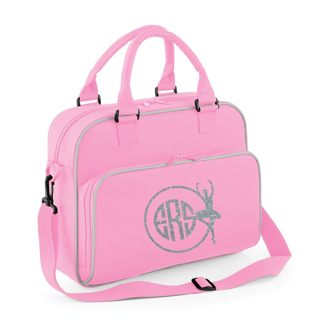 BALLET SHOES GYM BAG DANCE CLUB SCHOOL PE SPORTS SPARKLY PERSONALISED DANCER