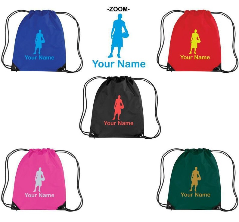 Personalised Embroidered Girls Childrens Drawstring Gym PE Kids School Boot Bag