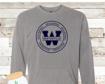 Wolverines Gray or Navy Pullover by Comfort Colors